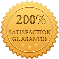 200% Satisfaction Guaranteed Badge