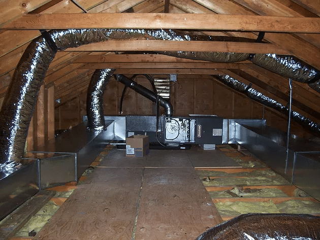 Furnace Unit in Attic